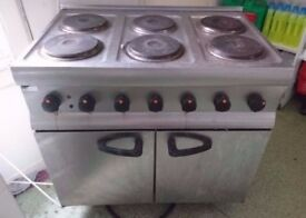 lincat electric 6 hob cooker / oven will post