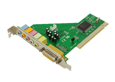 LogiLink PC0027B PCI Soundkarte intern 5.1 6-Kanal mit Gameport Direct Sound 3D