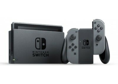 Nintendo Switch With Controllers   Gray  Hacskaaaa