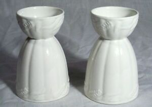 ANTIQUE IRONSTONE DOUBLE EGG CUPS RIBBON & WHEAT, ENGLAND Kitchener / Waterloo Kitchener Area image 1