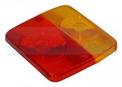 RADEX SQUARE REPLACEMENT LENS FOR 4 FUNCTION SMALL REAR TRAILER TAIL LAMP LIGHT
