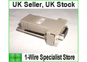 DS9097U-009 Serial to 1-wire adapter Dallas Maxim digitemp DS18S20 DS18B20