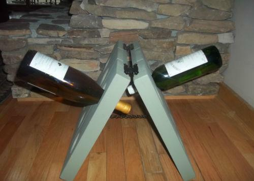 Pottery barn wine rack ebay for Pottery barn wine rack wood