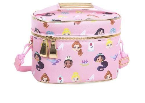 Disney Store 2018 Pink Princess Lunch Tote Box Belle Tiana Jasmine School Bag