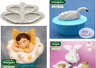 Katy Sue Designs WINGS Embelishment Silicone Mould - Swans, Angels, Doves