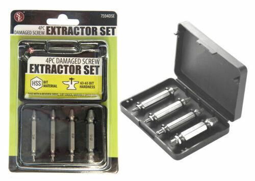 4pc mini power damaged screw extractor easy