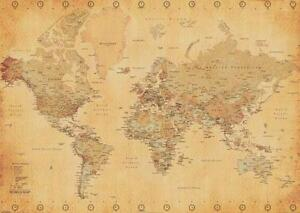 World map poster ebay giant world map poster gumiabroncs Images