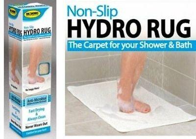Non Slip Hydro Rug Aqua Carpet Mat For Shower Bath Water Area Bathroom Safe NEW