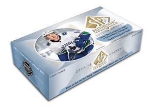 17-18 Upper Deck SP Authentic Hockey Available @ Breakaway