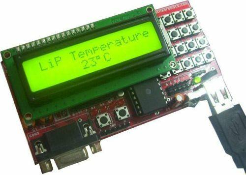 Atmel ATmega32 Board, 2x16 LCD, 4x4 Keypad, RTC, IR, Temp, Light