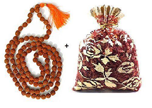 Rudraksha Mala 8-9mm Beads- 108+1 Beads Japa / Mala Natural Religious Rosary