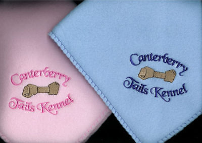 PERSONALIZED Embroidered Puppy Blanket