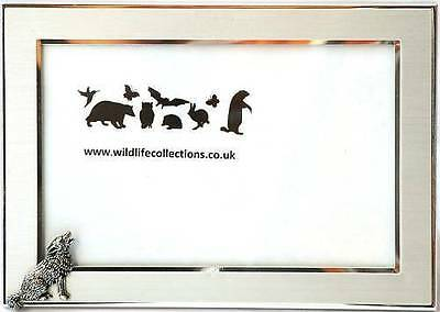 - Wolf Howling Design Photo Picture Frame Wildlife Gift Landscape