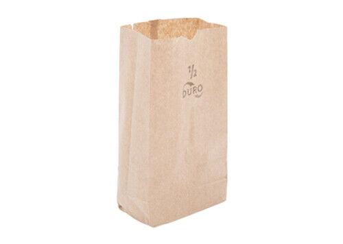Duro 1/2 lb. Brown Paper Bag - 500/Bundle