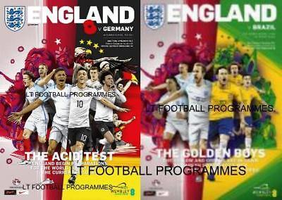 * 2017 - ENGLAND v GERMANY & v BRAZIL (INTERNATIONAL FRIENDLY'S AT WEMBLEY) *