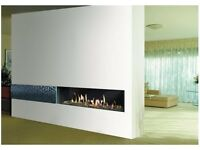 Frame-Less Balanced Flue HE Remote Control Edge Gas Fire (Brand New Incl Warranty)