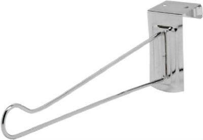 """Decko 38500 Adjustable Over the Door Hanger, 14"""", Steel, Chrome Finish"""