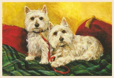 WEST HIGHLAND WHITE TERRIER WESTIE DOG FINE ART PRINT