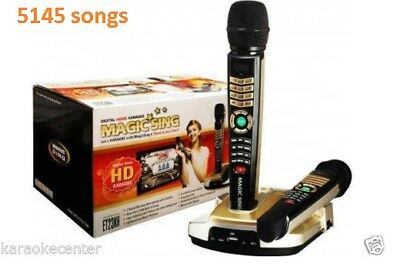 NEW MAGIC SING ET23KH karaoke 5145 TAGALOG/ENGLISH SONGS & 2 WIRELESS MIC