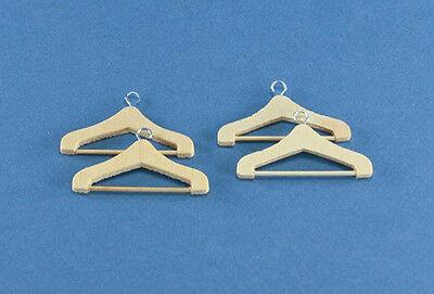 1/12 Scale Dollhouse Miniature Set of 4 Wooden Hangers #D2307-25