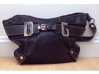 Dolci Gabbana Black Leather Handbag