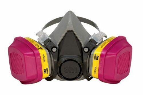 3M 6300 & 2 Each 60923 P1OO/OV/AG Cartridge Pro Multi-Purpose Respirator LARGE