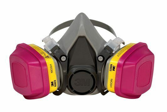 3M 6200 & 2 Each 60923 OV/AG Cartridge Pro Multi-Purpose Respirator MEDIUM Business & Industrial