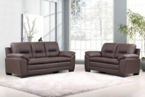 Brown Sofa and Loveseat on Sale (SK01)