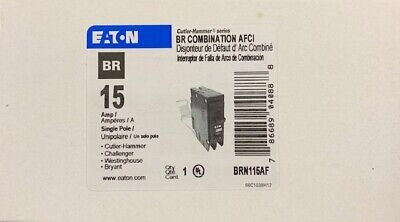 Cutler Hammer Eaton Brn115af Brcaf115 Brn115af Arc Fault Afci Breaker New In Box