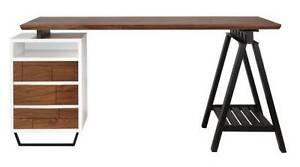 Matt Blatt Replica Jacob Pemble Industrial Desk Walnut RRP $1999 Brookwater Ipswich City Preview