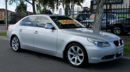 2004 BMW 530i E60 Sport Silver 6 Speed Auto Steptronic Sedan Hillcrest Port Adelaide Area Preview