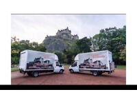 REMOVALS AND CLEARANCES, MAN WITH VAN, low cost/cheap removals EDINBURGH