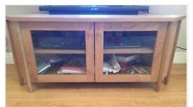 Oak coloured TV cabinet/unit