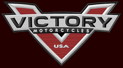 """VICTORY MOTORCYCLES USA EMBROIDERED PATCH ~7-3/4"""" x 4-1/4"""" HAMMER GUNNER VEGAS"""