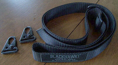 Blackhawk Universal Tactical Simple Sling 1.25 Inch With Two HK Sling Hooks