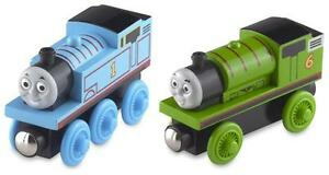 PERCY-amp-THOMAS-STARTER-SET-Wooden-Railway-Tank-Train-Brio-NEW-USA-Seller
