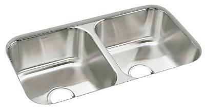 (Sterling 11444-NA Under-Mount Double-Equal Bowl Kitchen Sink 32