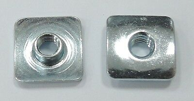 T-nut Square Flange Stainless Steel 8-32x0.157 - 25pcs