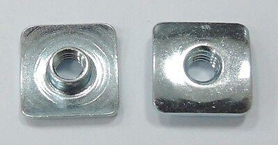 T-nut Square Flange Steel Zinc Plated 8-32x0.157 - 25pcs