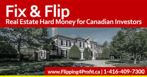 Private Canadian Hard Money Lenders for Fix and FLIP