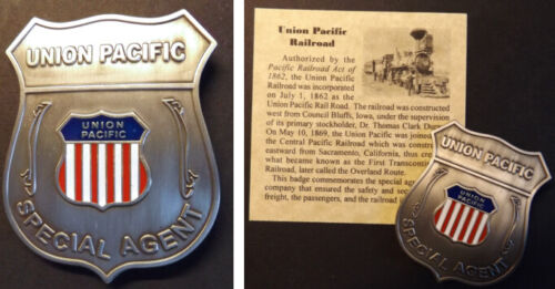 Union Pacific Railroad Special Agent Badge, rail, western