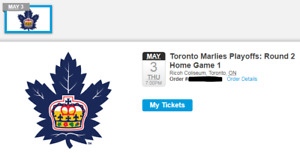 2 for $40 PLAYOFF MARLIES TICKETS FOR THURSDAY MAY 3RD