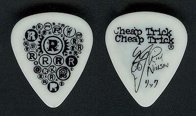 Cheap Trick Rick Nielsen White Guitar Pick - 2001 Tour