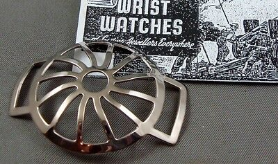 """MESH-Guard Military Steel Wrist Watch Protector """"Trench Grille"""". Unique offering"""