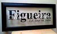 Custom Family Name Frames