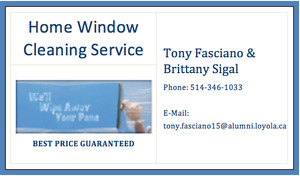 Home window cleaning service