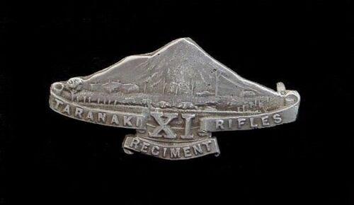 11th Taranaki Rifles New Zealand Cap Badge Hallmarked Silver
