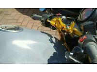 Z750 Z1000 anodised gold adjustable steering damper