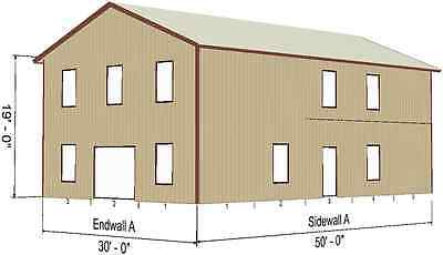 Steel Metal 2-floor Home Shell Kit 2400 Sq Ft Barn Shed Prefab Storage