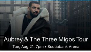 Drake and Migos Concert Tickets - August 21 & 22